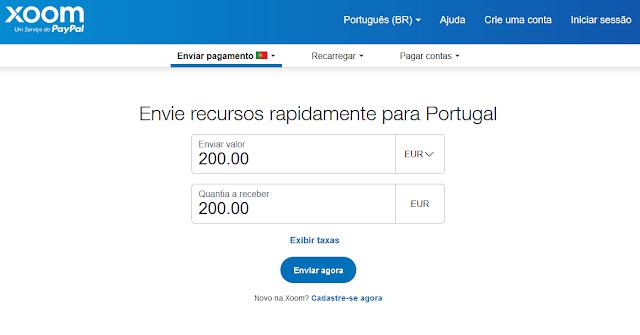 Xoom (Paypal) chega a Portugal