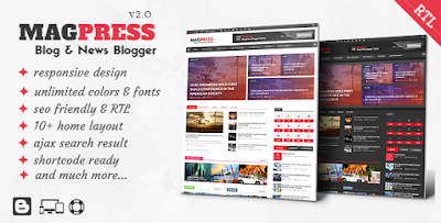 MagPress - Blog & News Blogger Template
