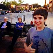 Tom White with Paul McCartney and Warren Buffett