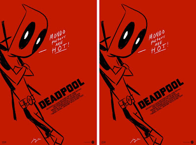 Deadpool Movie Poster Screen Print by Justin Harder x Mondo