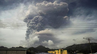 Food and supply shortage as St. Vincent volcano rendered many homeless.