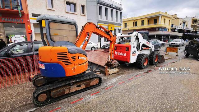 Ξεκίνησαν τα έργα κατασκευής του κόμβου Πειραιώς στο Ναύπλιο (βίντεο)