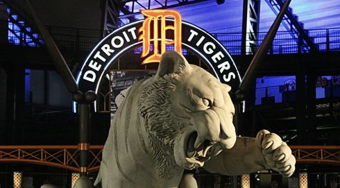 downtown detroit michigan tigers