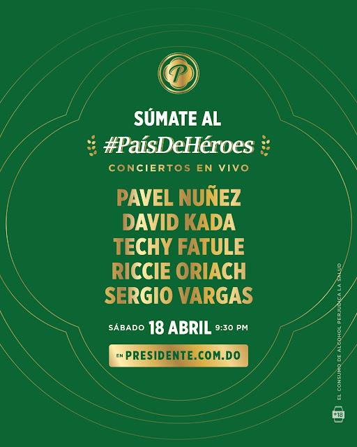 Cerveza Presidente ofrecerá este sábado segundo concierto benéfico #PaísDeHéroes