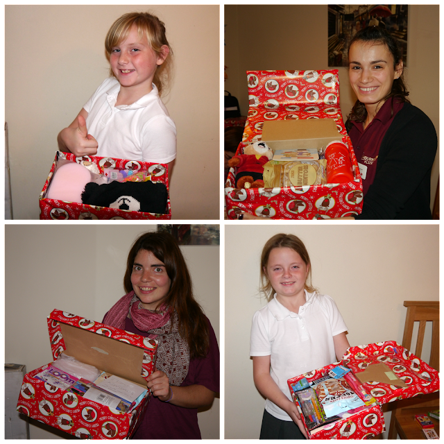 Finished shoebox gifts
