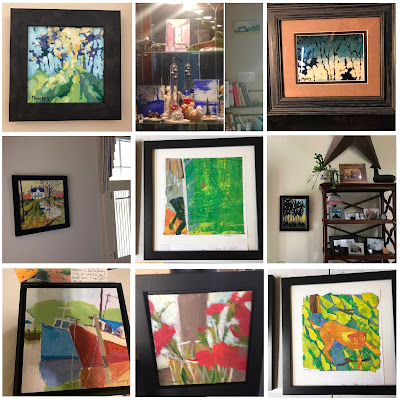 Barb Mowery's artwork displayed in the homes of her collectors