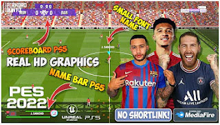 Download PES 2022 PPSSPP HD Graphics CV8 Camera PS5 English Version & New Update Transfer