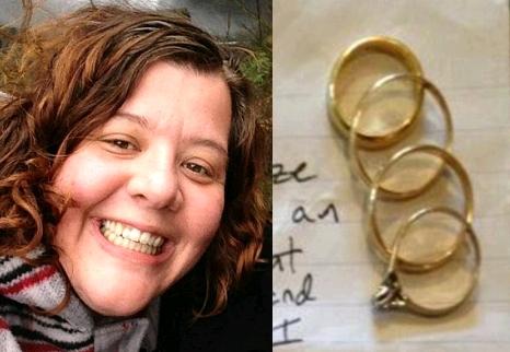 stolen wedding rings returned
