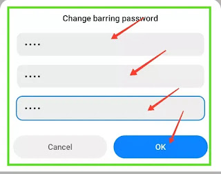 Call barring password Smart
