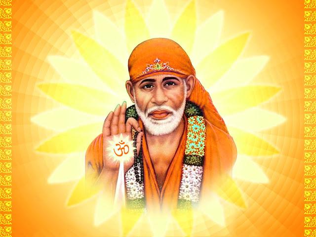 Lord Sai Baba HD Wallpaper In Yellow Background