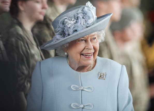 Queen Elizabeth II visited Royal Scots Dragoon Guards. The Queen met with Scots Dragoon Guards soldiers, their families and veterans