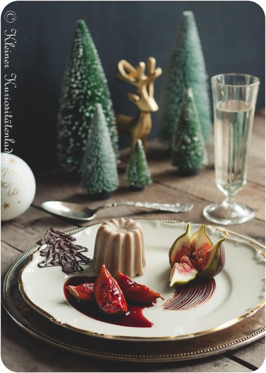 Maronen-Schoko-Parfait mit Portweinfeigen