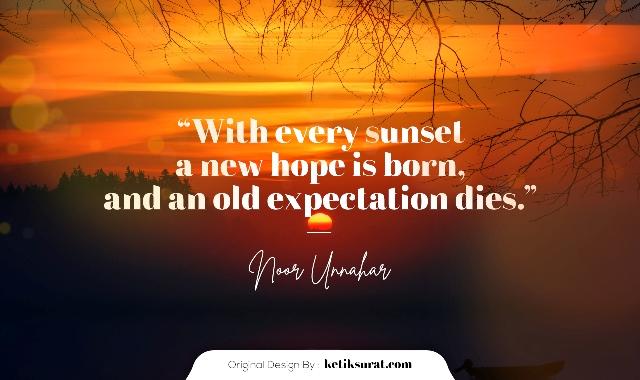 quotes senja bahasa inggris