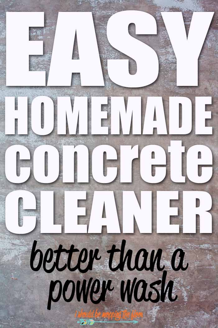 diy miracle concrete patio cleaner i