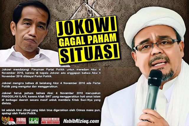 Jokowi Gagal Paham Situasi