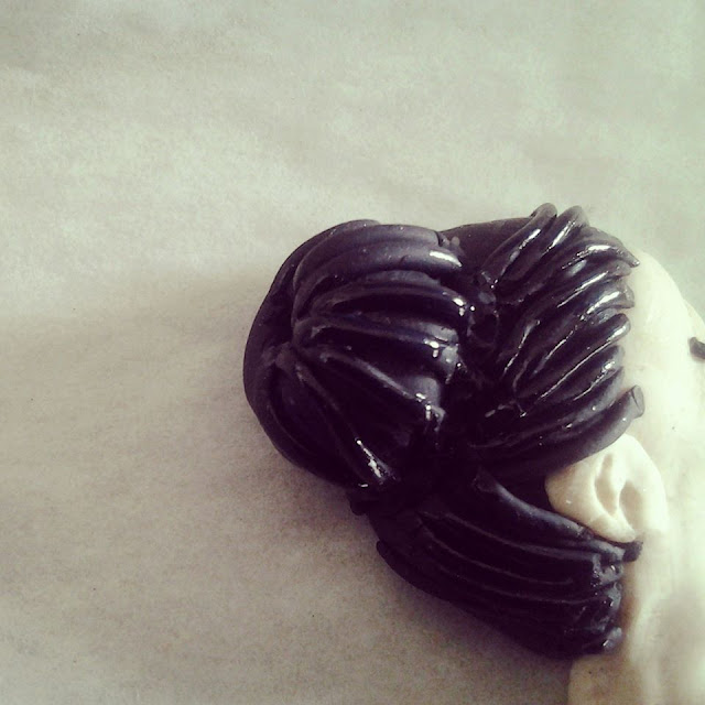 chignon in fimo pattinatrice