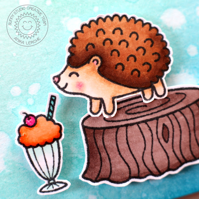 Sunny Studio Stamps: Hedgehog Birthday Card (using Sweet Shoppe, Woodsy Creatures & Sock Hop)