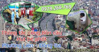 Thông tắc cống tại phường phương liên,thông bồn cầu,chậu rửa,toilet,thoát sàn,hút bể phốt 0979266769