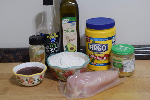 The ingredients needed to make the Sweet and Spicy Asian Fried Chicken
