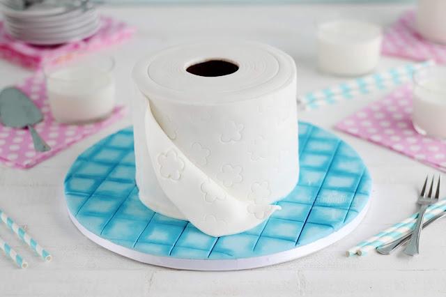 Tarta Rollo de papel baño