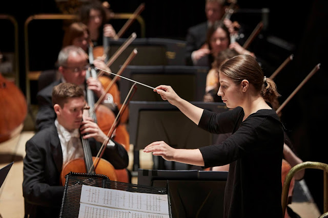 Dalia Stasevska makes her UK debut with the Orchestra of Opera North (Photo Justin Slee)