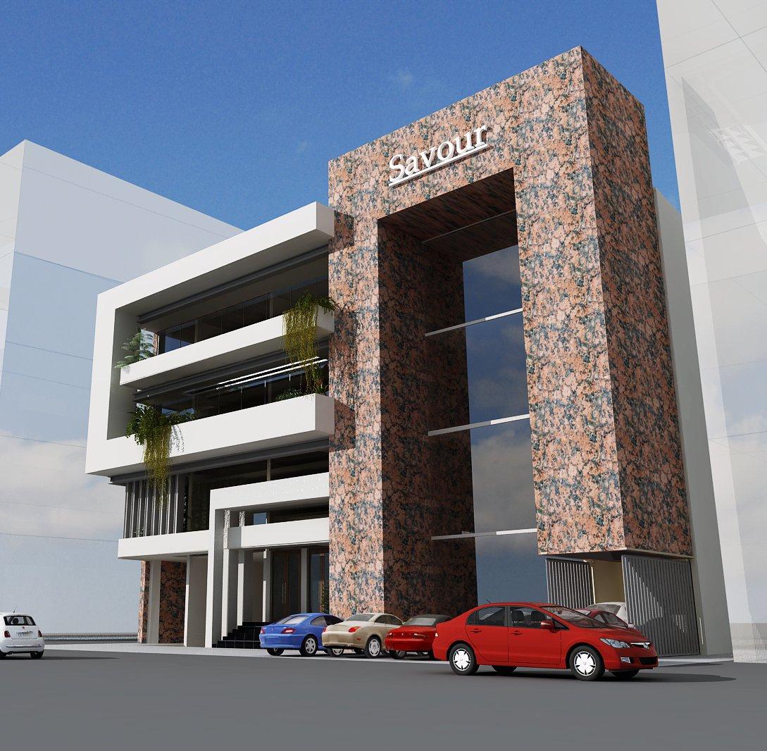 3d Building Elevation 3d Front Elevation: 3D Front Elevation.com: Oman Commercial Project Design 3d