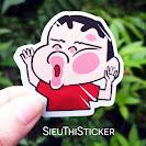 sticker anime đập mặt