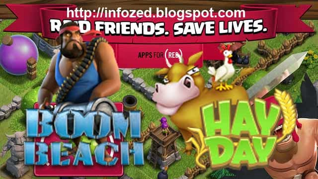 Clash of Clans, HayDay, BoomBeach