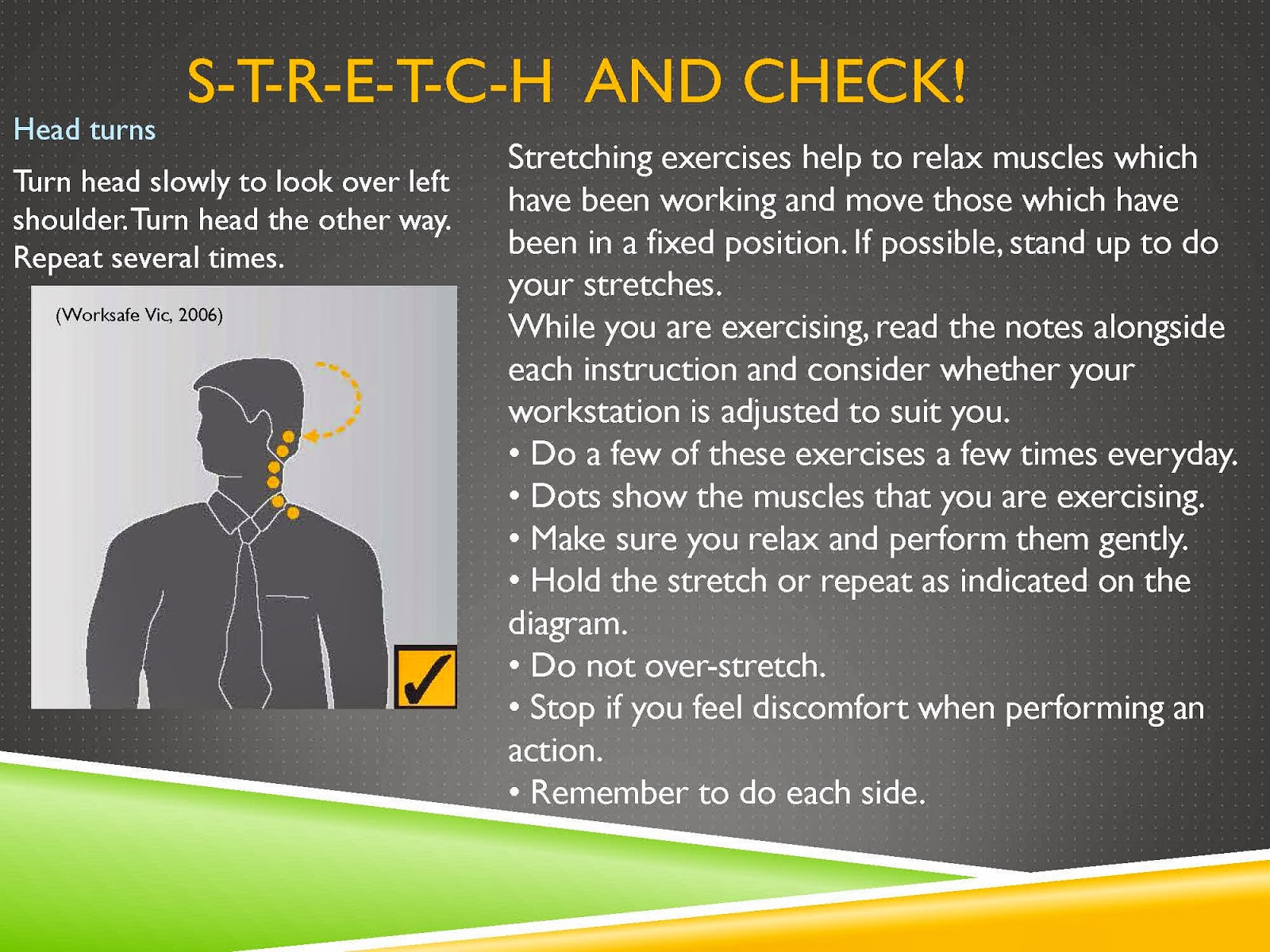 STRETCH AND CHECK