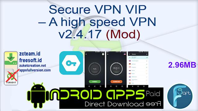 Secure VPN VIP – A high speed VPN v2.4.17 (Mod)