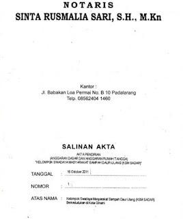 Akte notaris KSM