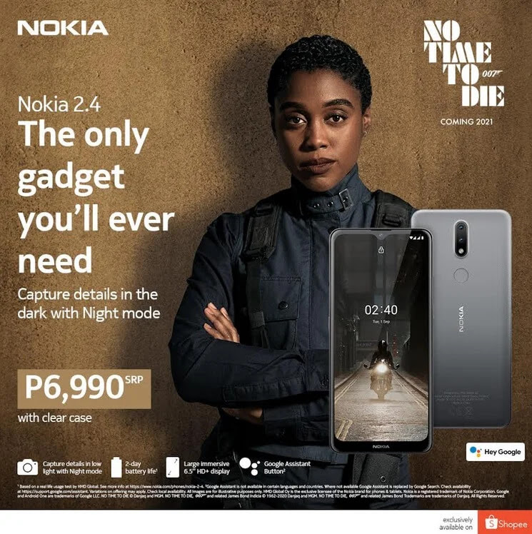 Nokia 2.4 with 6.5-inch Display, Octa-Core Chip, and 4,500mAh Battery is Exclusively Available at Shopee for Only Php6,990