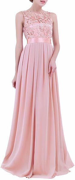 Beautiful Lace Chiffon Bridesmaid Dresses