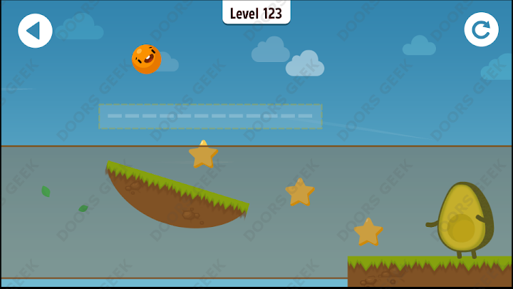 Where's My Avocado? Level 123 Solution, Cheats, Walkthrough, 3 Stars for Android, iPhone, iPad and iPod