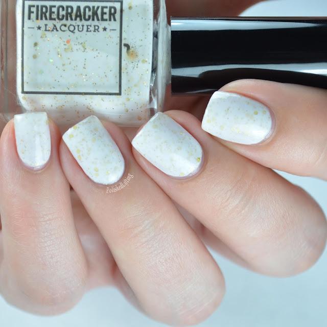 creme nail polish gold glitter