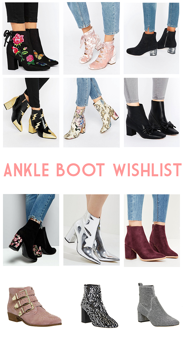 Ankle boot wishlist