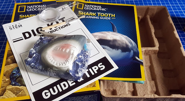 National Geographic Shark Tooth Dig Kit Review wha'ts in the box