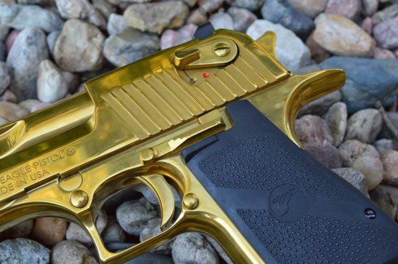Magnum Research Desert Eagle Mark XIX Titanium Gold  357 Magnum