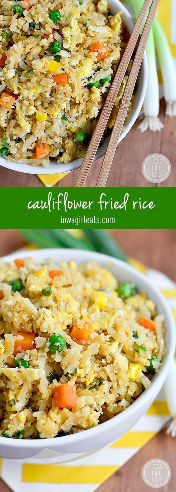 Cauliflower Fried Rice #cauliflower #friedrice #rice #vegan #veggies #veganrecipes
