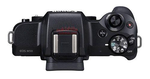Canon EOS M50, вид сверху