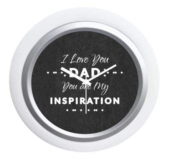 Father's Day Best Dad clock for the table
