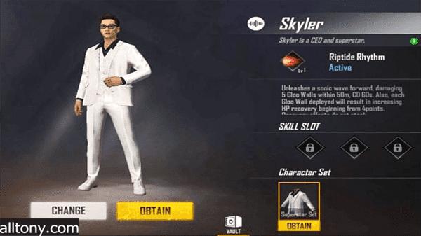تعرف على شخصية Skyler سكايلر في لعبة فري فاير garena Free Fire Cobra