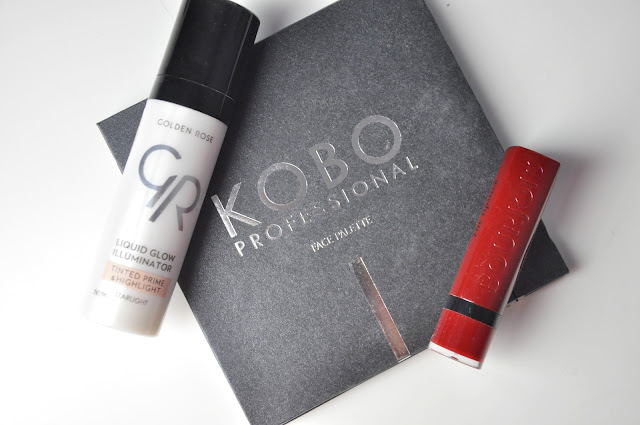 kobo face palette golden sand highlighter, bourjois the lipstick 11 berry formidable, golden rose liquid glow illuminator