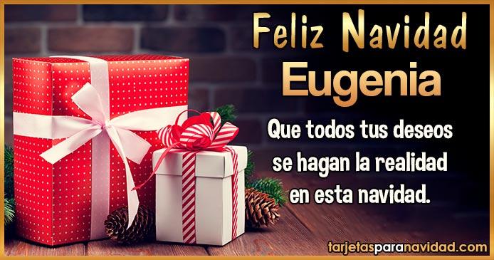 Feliz Navidad Eugenia