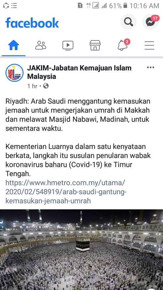 Umrah Mak Dan Abah Postpone Kerana Covid 19