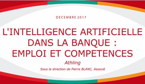 Étude « L'intelligence artificielle dans la banque : emploi et compétences »