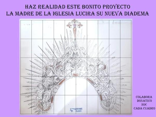 Proyecto de diadema de un grupo de hermanos de la Piedad de Cádiz