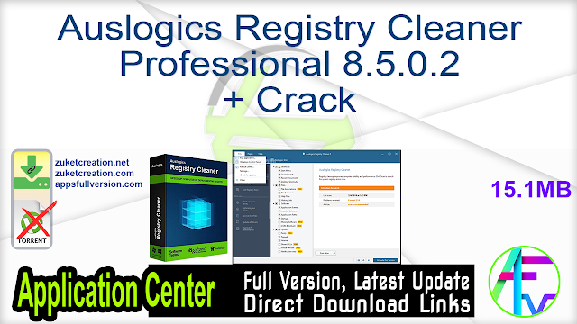 Auslogics Registry Cleaner Professional 8.5.0.2 + Crack