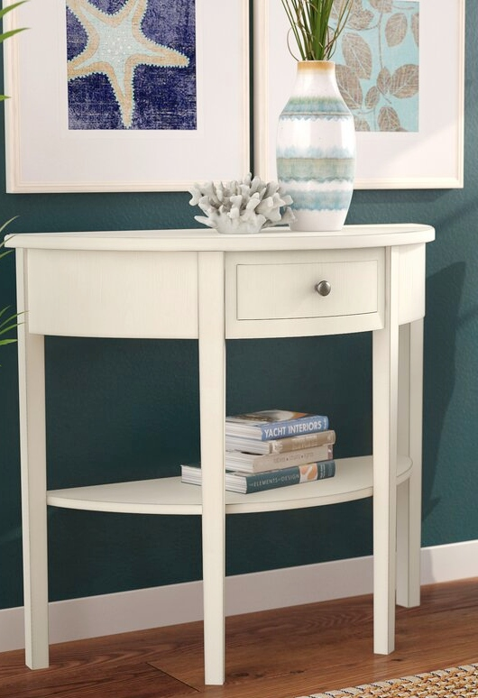 Small White Console Tables with Drawers