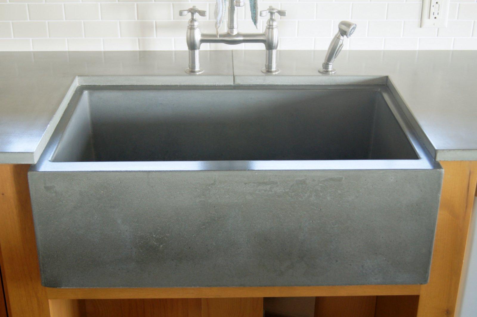 Cement Kitchen Sink Faucet Artwatch Concrete Farm